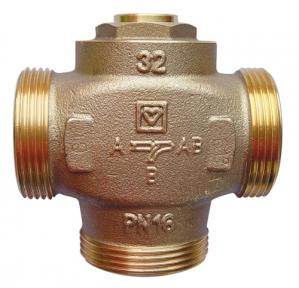 Herz TEPLOMIX DN 25 61°С трехходовой смесительный клапан (с отключаемым байпасом)